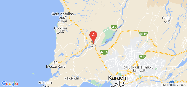 map of Hub, Pakistan